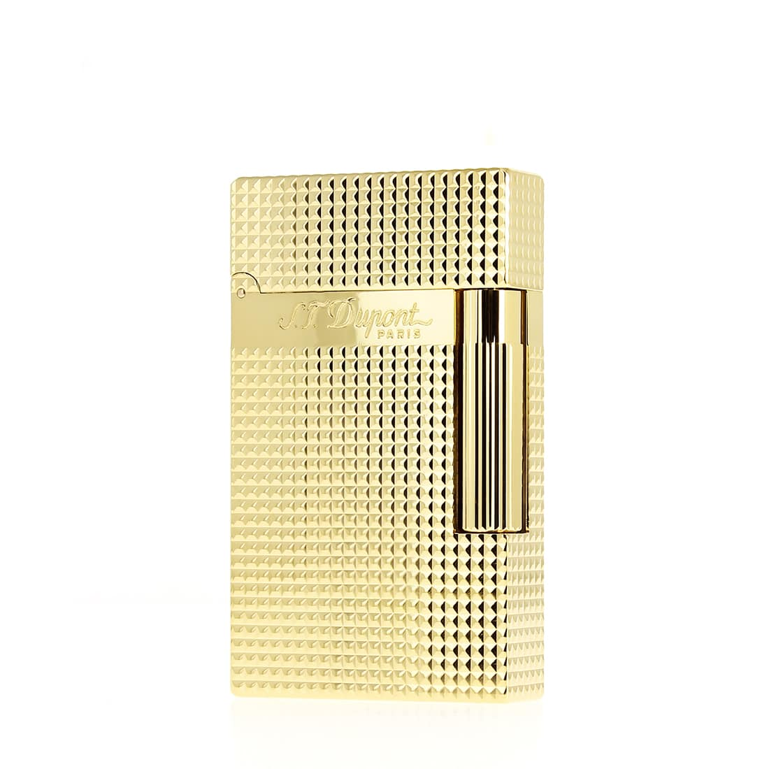 Photo de Briquet S.T. Dupont Ligne 2 pointe de diamant finition or