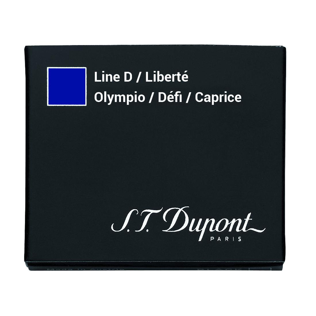 Photo de Cartouche S.T. Dupont Stylo Plume Défi Bleu Royal x6