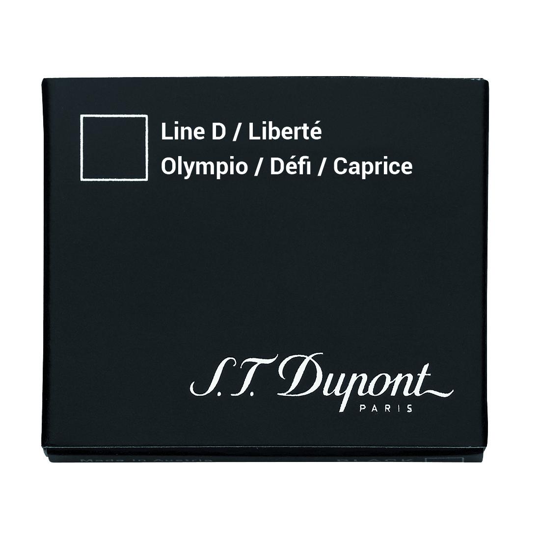 Photo de Cartouche S.T. Dupont Stylo Plume Défi Noire x6