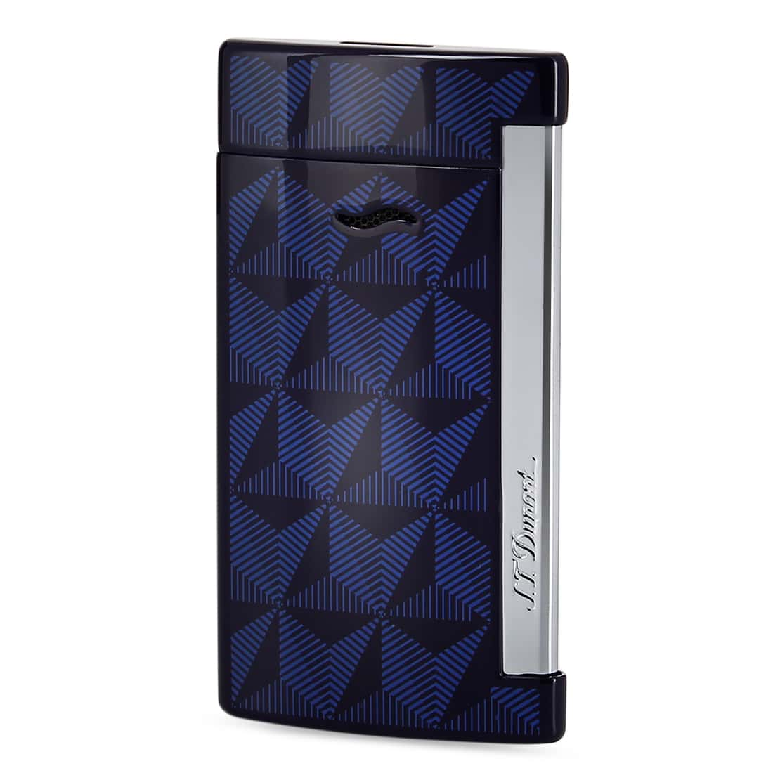 Photo de Briquet S.T. Dupont Slim 7 Graphic Head Bleu
