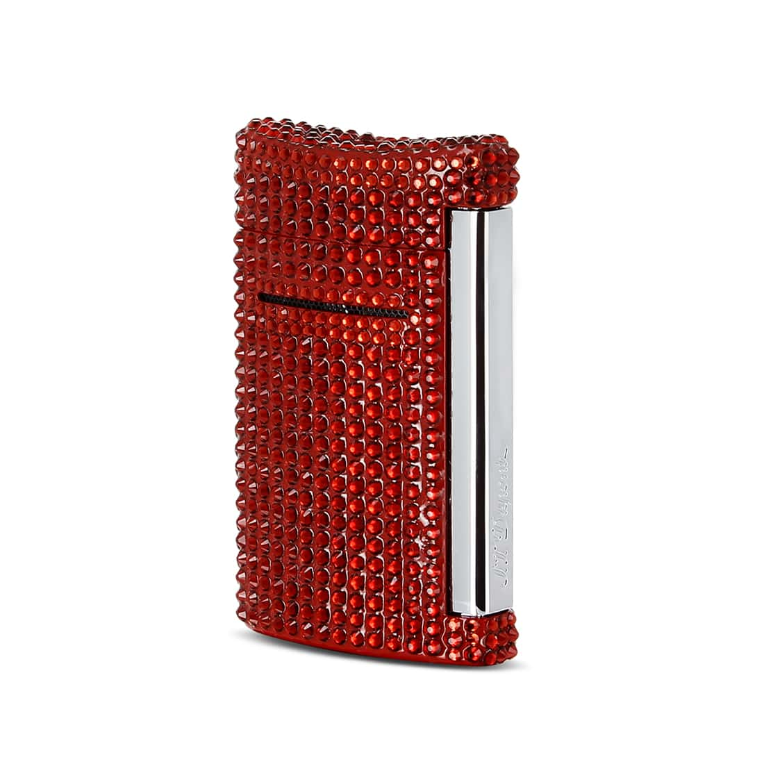 Photo de Briquet S.T. Dupont Mini Jet Full Rouge Swarovski