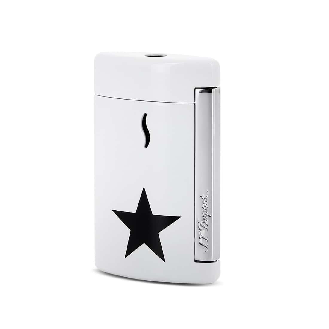Photo de Briquet S.T. Dupont miniJet Black Star Blanc