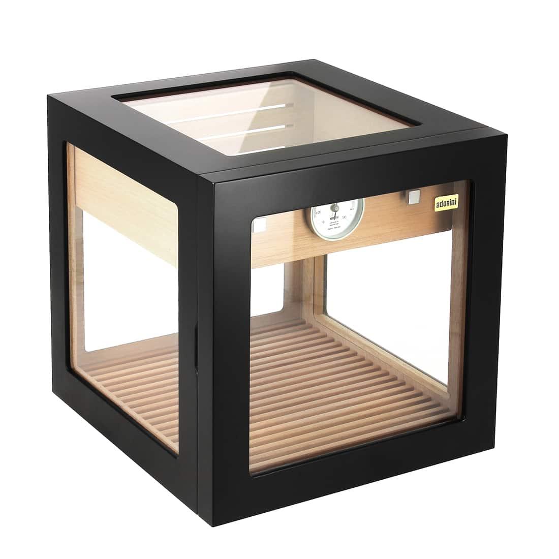 Photo de Cave à cigares Adorini Cube Deluxe noire