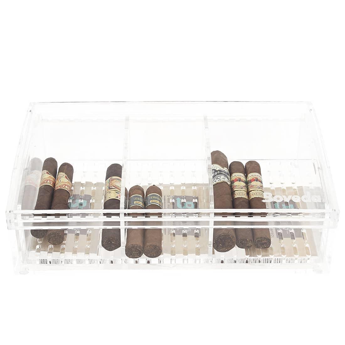 Photo de Cave a cigare Boveda Plexiglass grand modèle
