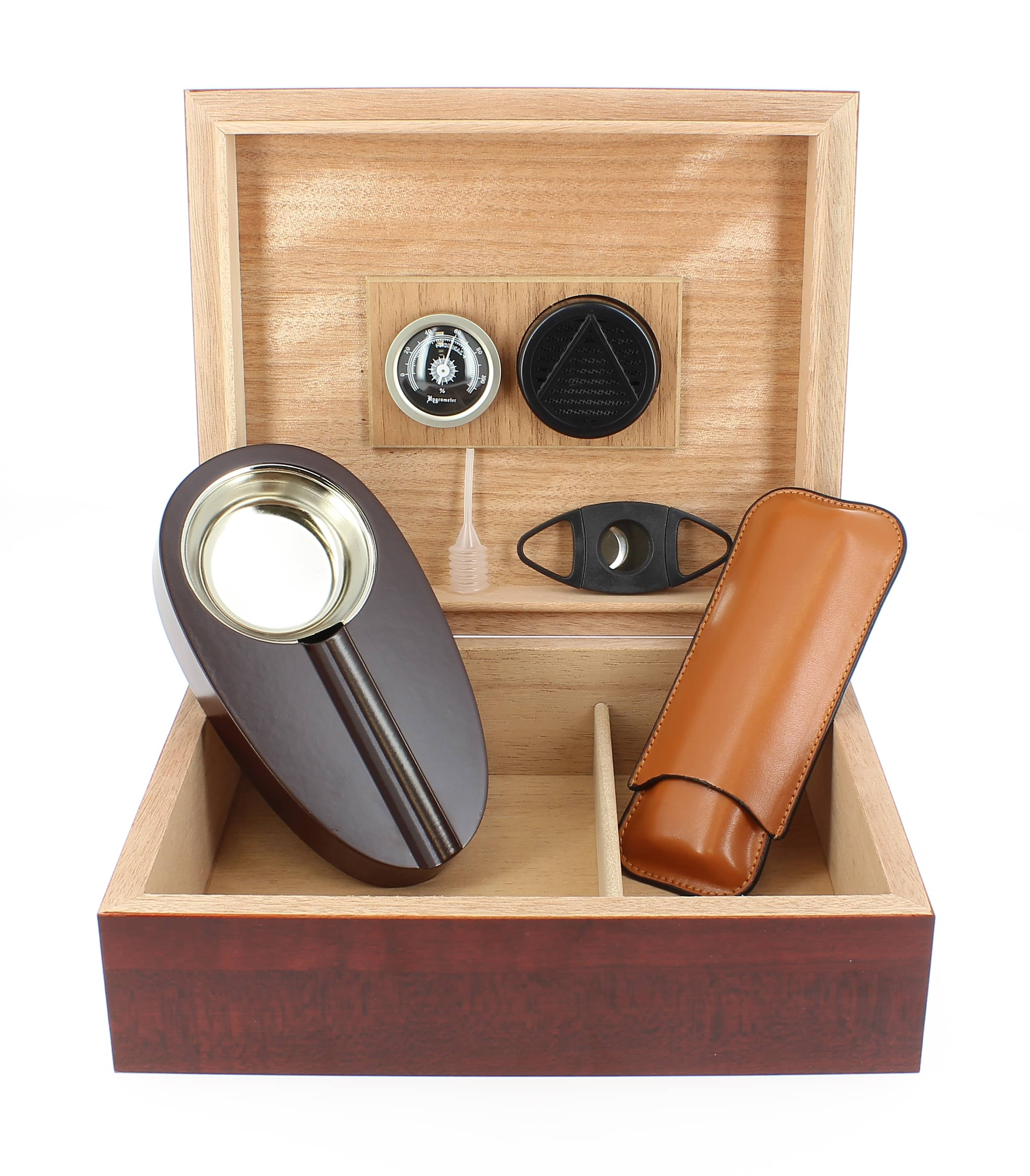 Photo de Cave à cigares Acajou et accessoires