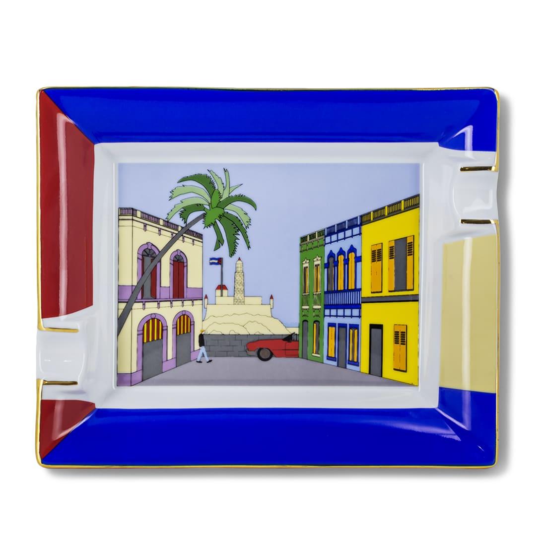 Photo de Cendrier Cigare Elie Bleu Porcelaine Maison Cubaine