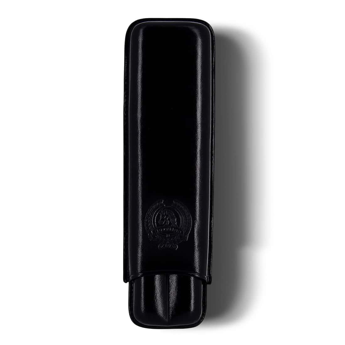 Photo de Etui 2 cigares Beryllus Siglo III Cuir Noir