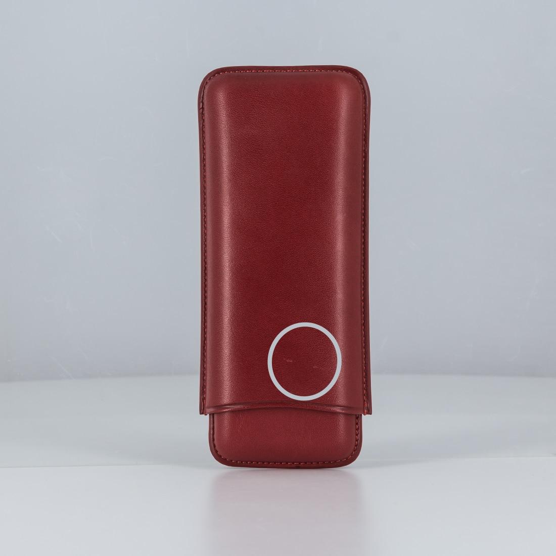 Photo de La Bonne Affaire - Etui 3 cigares Cuir Rouge