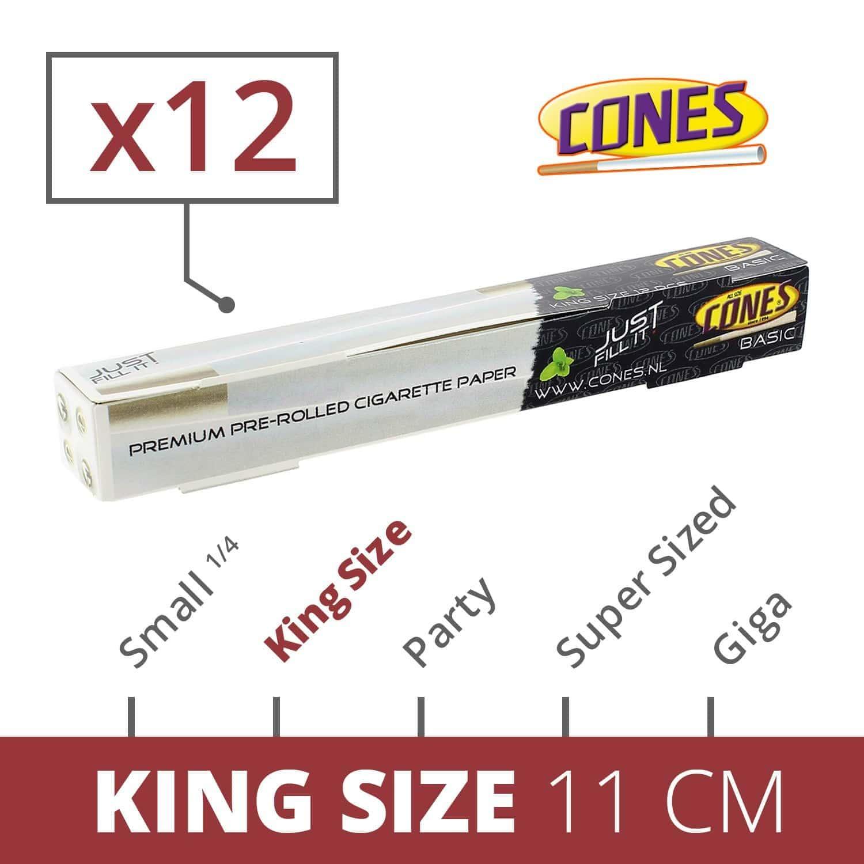 Photo de Cones Basic King Size x 12