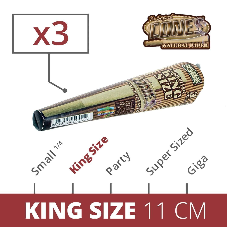 Photo de Cones King Size Unbleached x 3