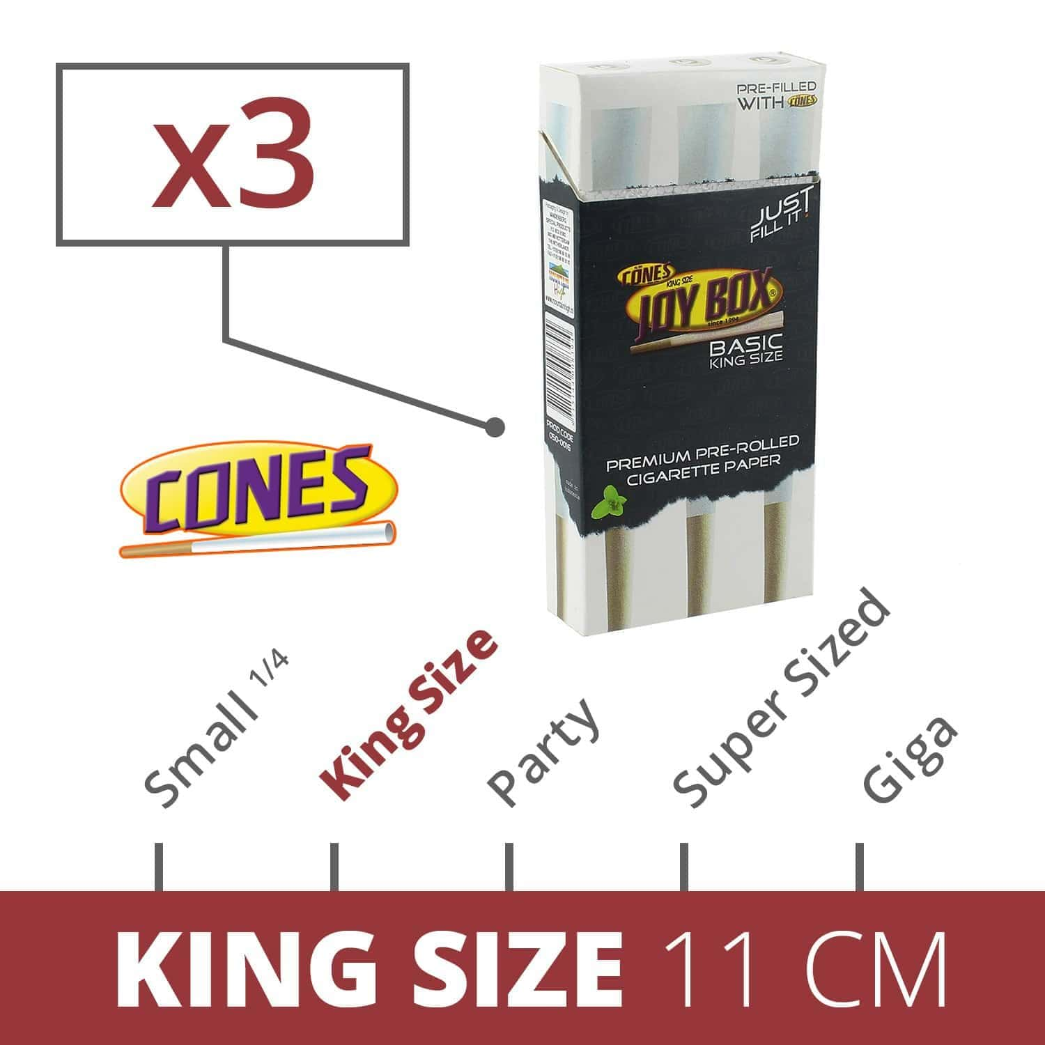 Photo de Cones Joy Box King Size x 3