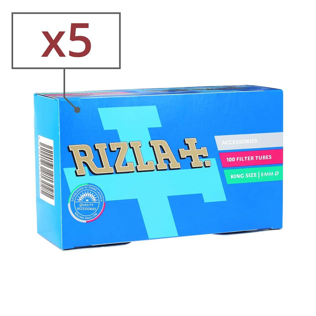 Photo de Boite de 100 tubes Rizla + avec filtre x5