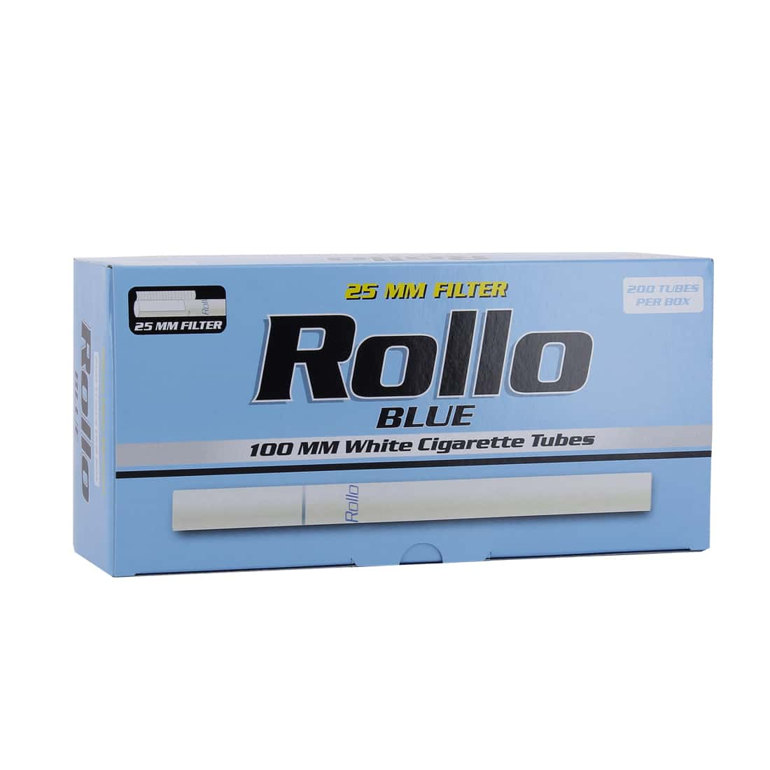 Photo de Boite de 200 tubes Rollo Blue 100's