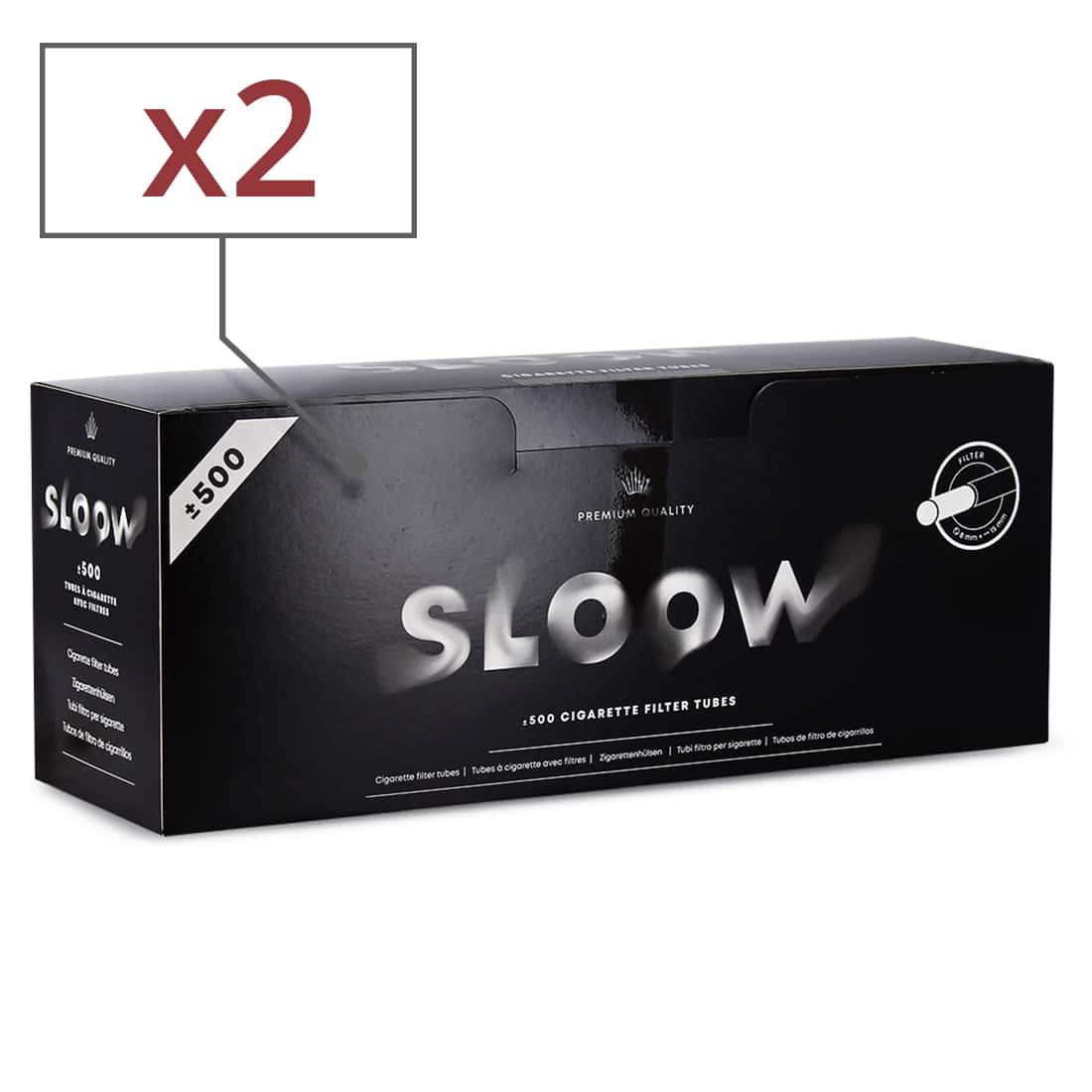 Photo de Boite de 500 tubes Sloow avec filtre x 2