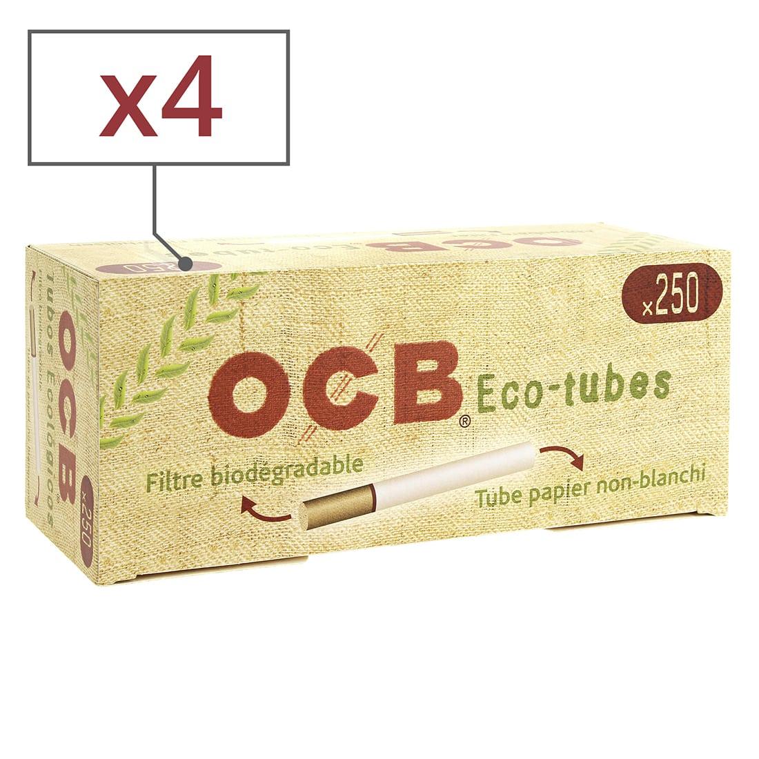 Photo de Boite de 250 tubes OCB Chanvre Bio avec filtre x4