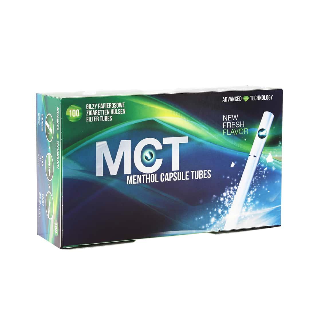 Photo de Boite de 100 tubes Menthol MCT avec filtre x 1