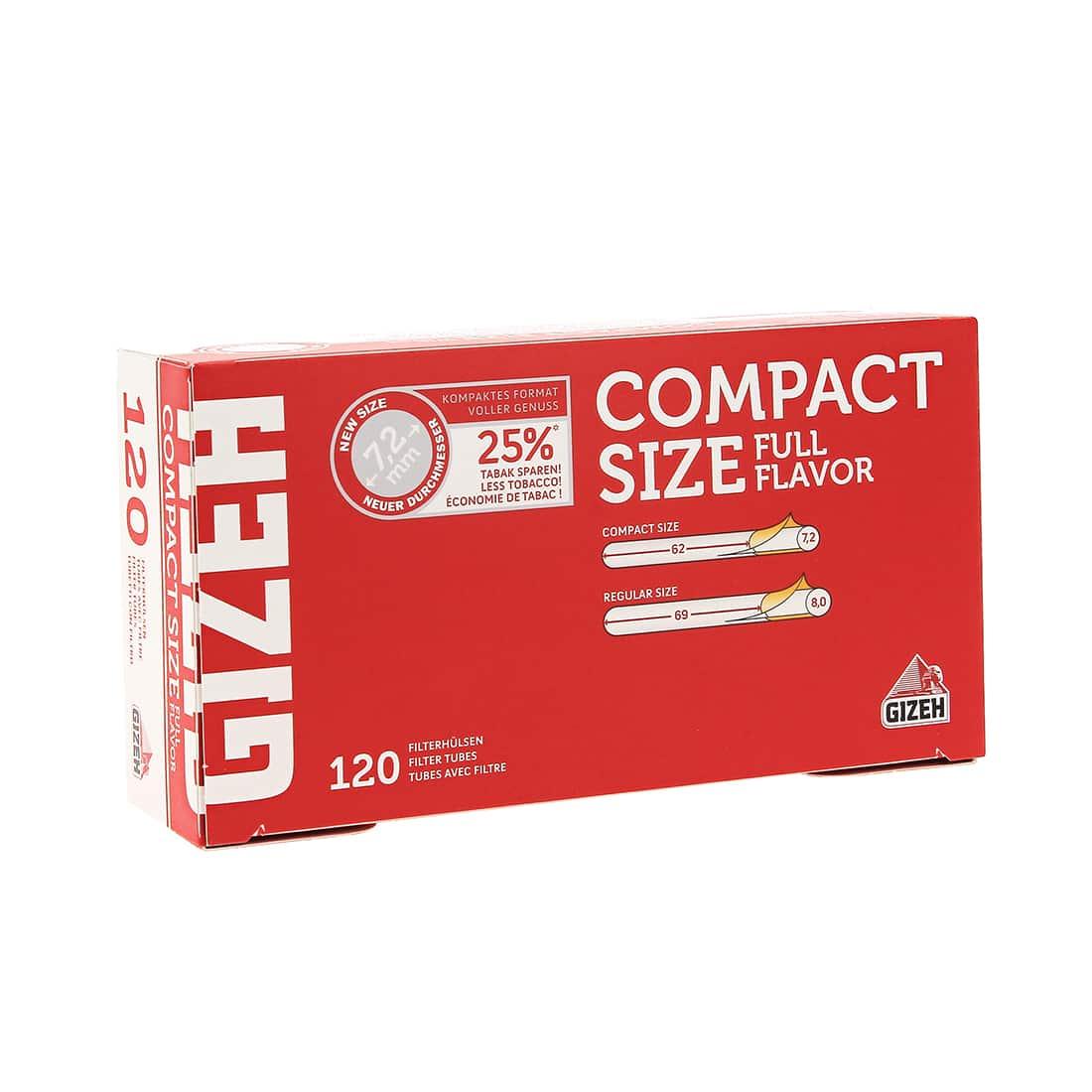 Photo de Boite de 120 tubes Gizeh Compact Size avec filtre x 1