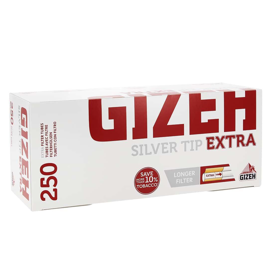 Photo de Boite de 250 tubes Gizeh Silver Tip Extra
