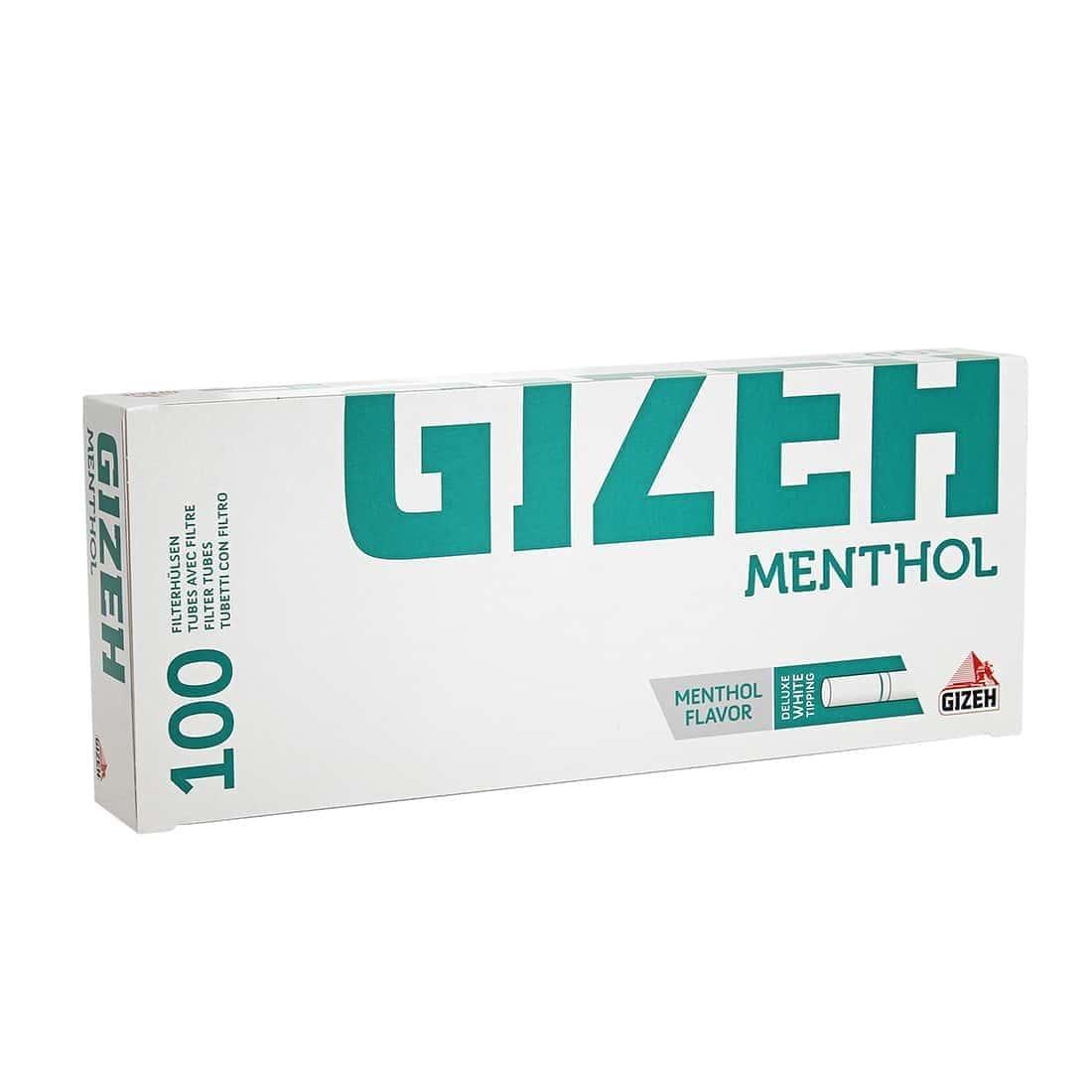 Photo de Boite de 100 tubes Gizeh Silver Tip Menthol avec filtre x 1