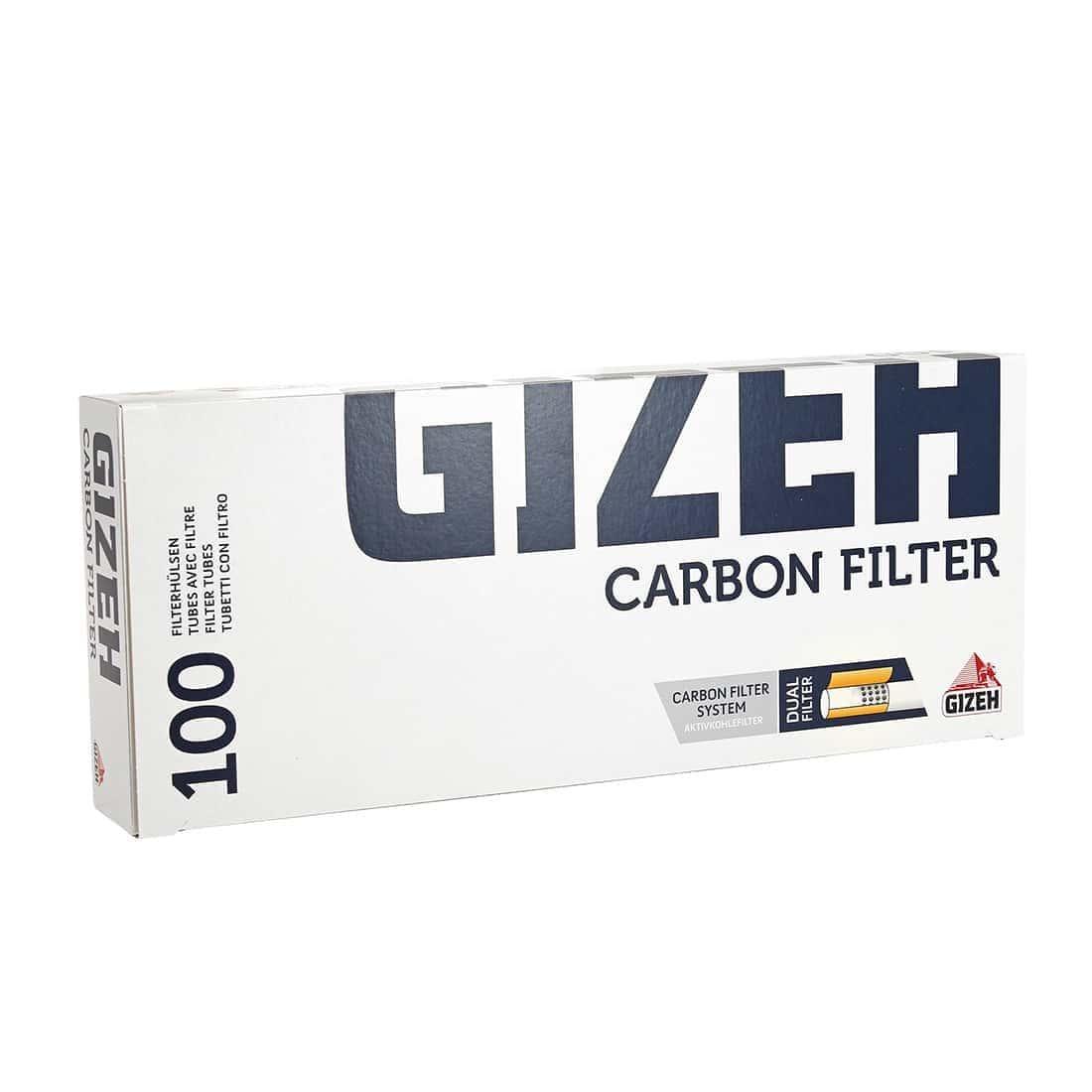 Photo de Boite de 100 tubes Gizeh Silver Tip Charbon avec filtre x 1