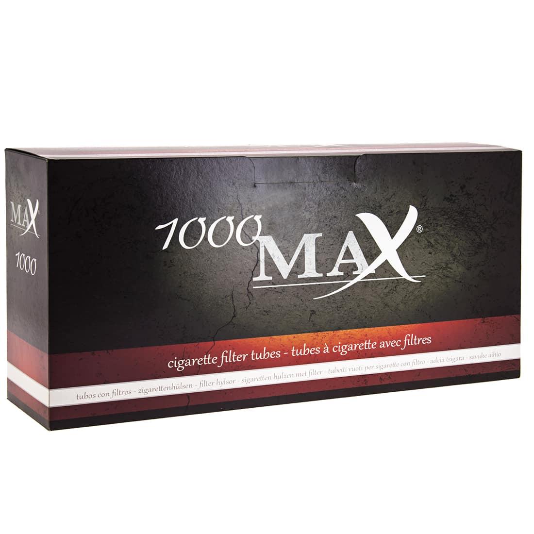 Photo de Boite de 1000 tubes Max avec filtre x 1