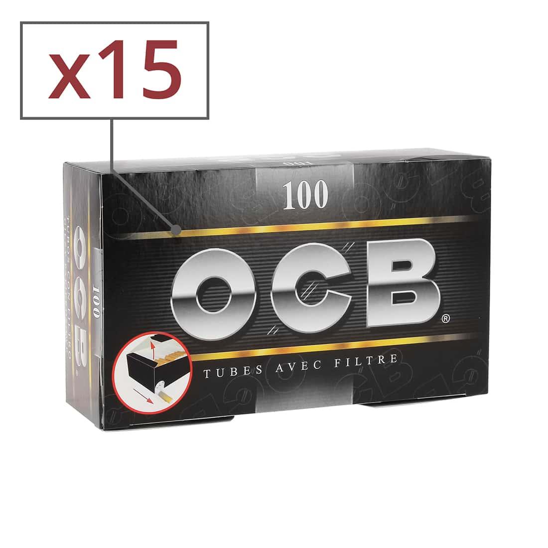 Photo de Boite de 100 tubes OCB avec filtre x5 - pack de 3