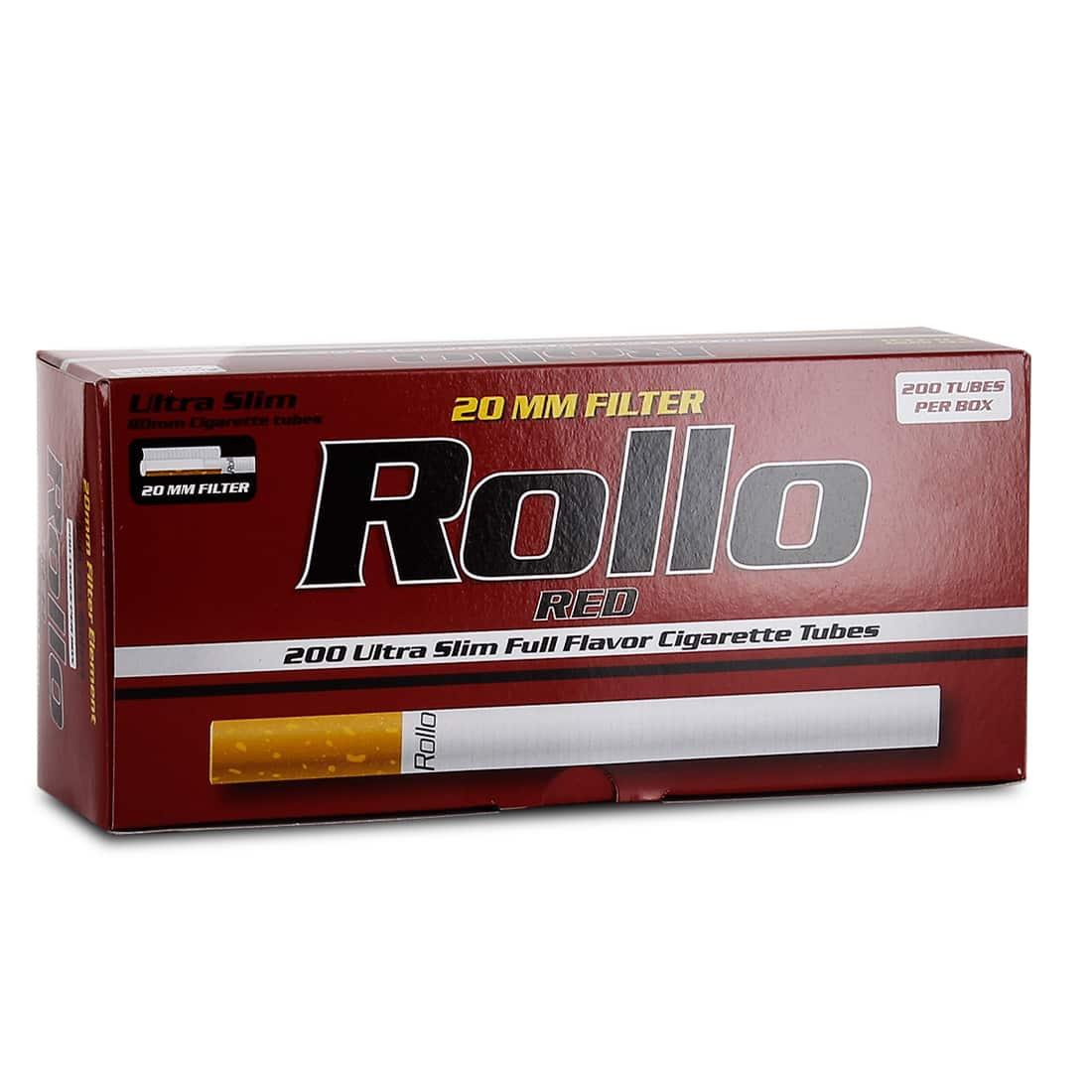 Photo de Boite de 200 tubes Rollo Red Ultra Slim
