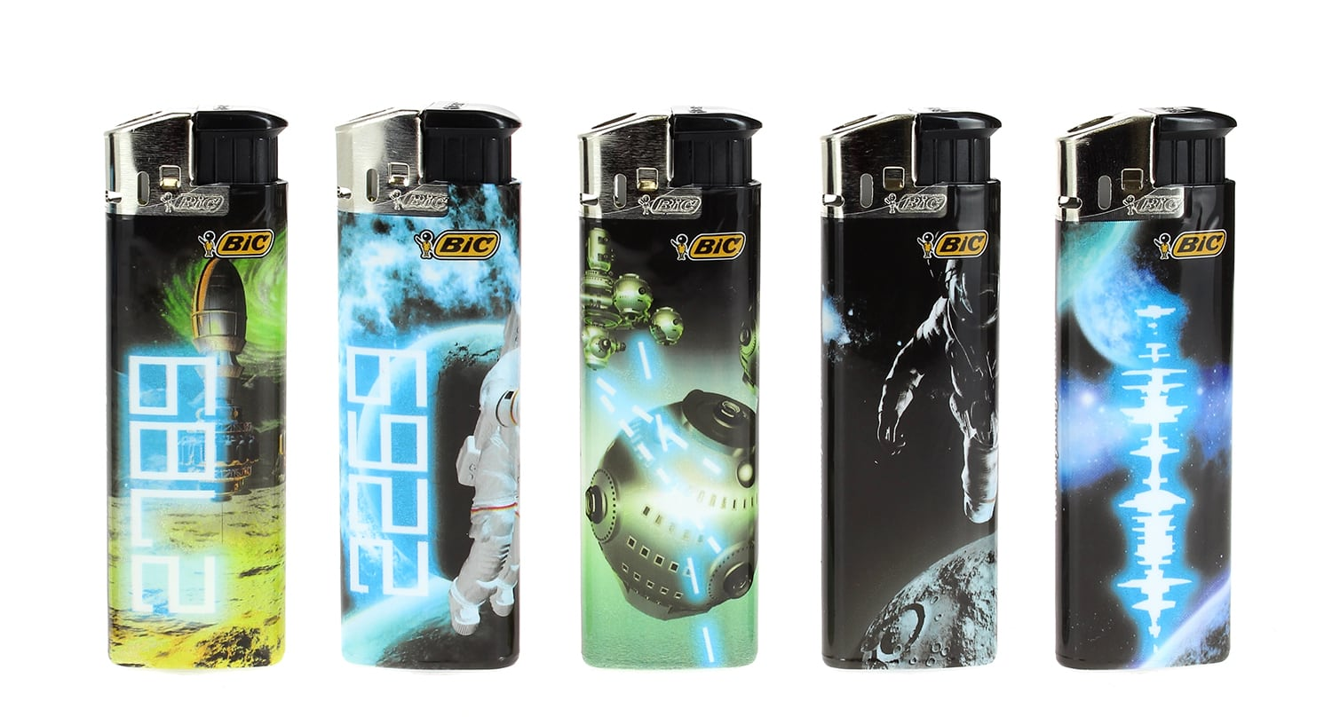 Photo de 5 briquets Bic Maxi electronic Cosmos