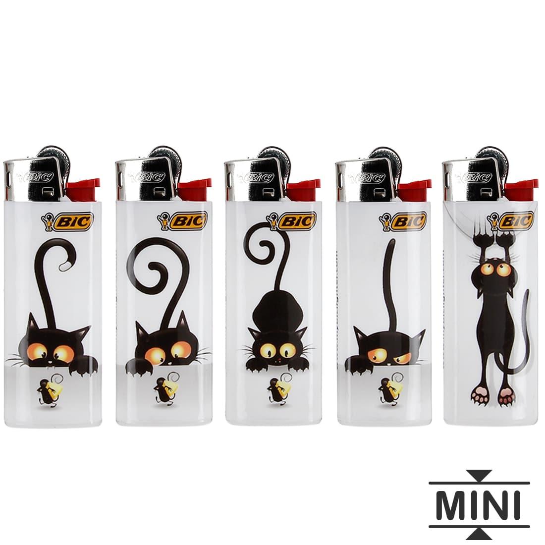 Photo de 5 briquets Bic mini à pierre Cat