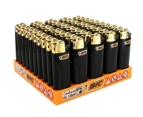 Photo de 50 briquets Bic mini à pierre Gold