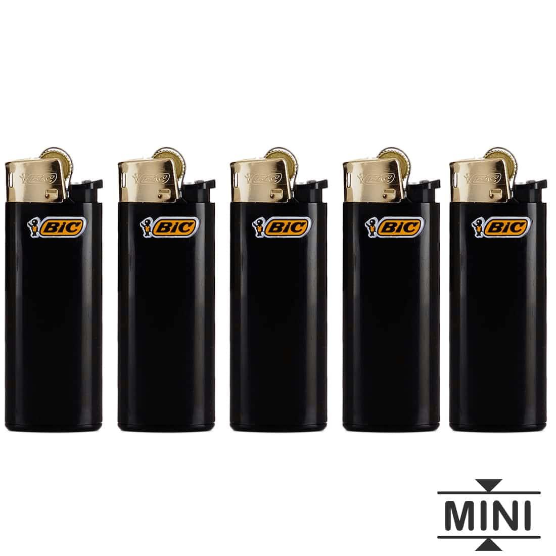 Photo de 5 briquets Bic mini à pierre Gold