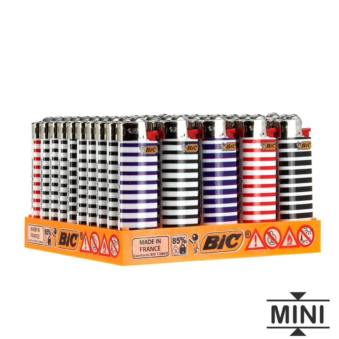 Photo de 50 briquets Bic mini à pierre Marine