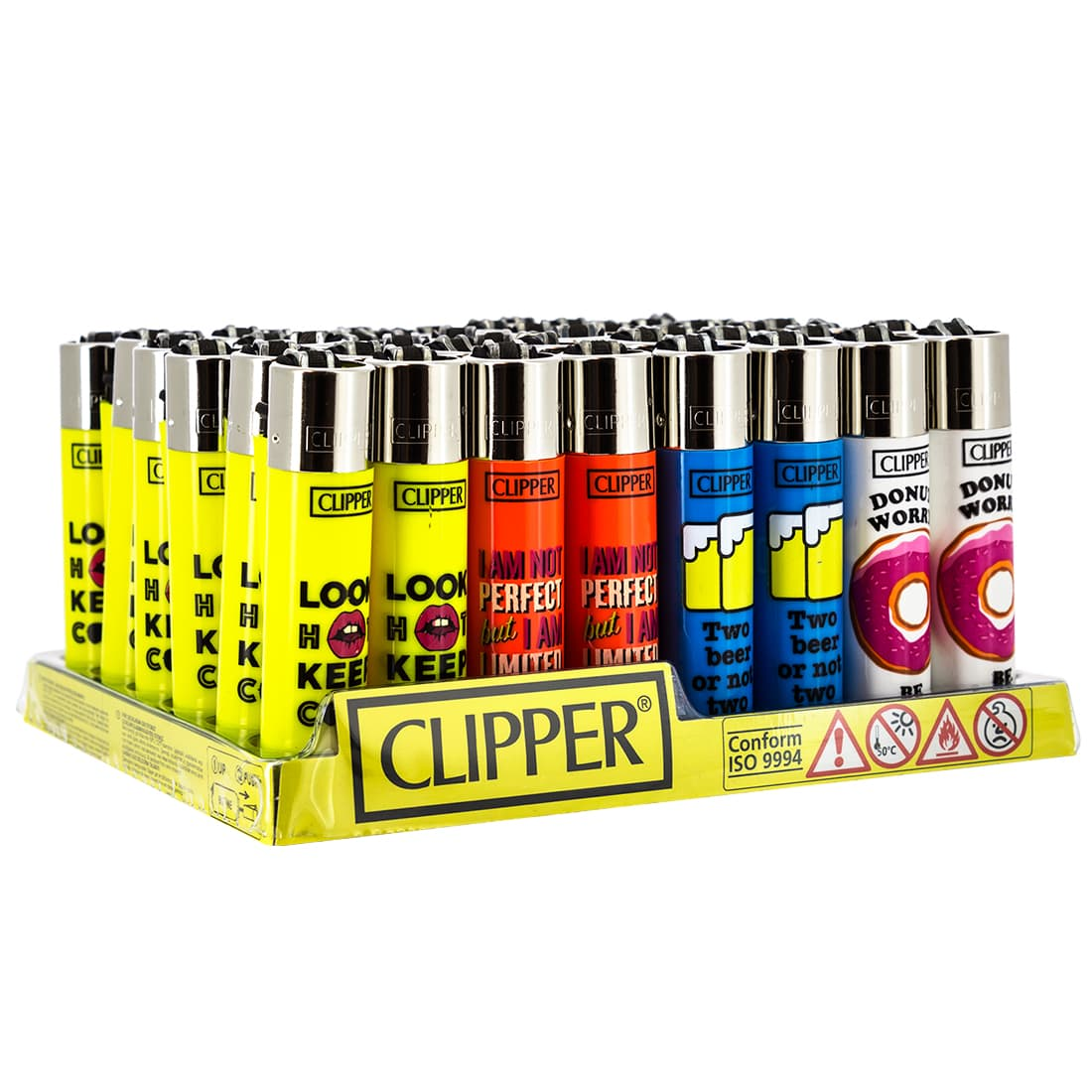 Photo de Briquet Clipper Funny Quotes modèle 2 x 48