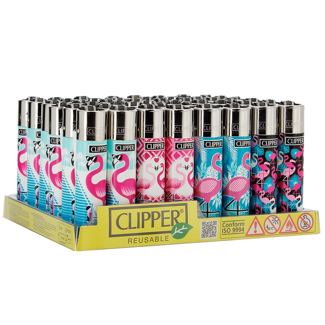 Photo de Briquet Clipper Flamant Rose x 48