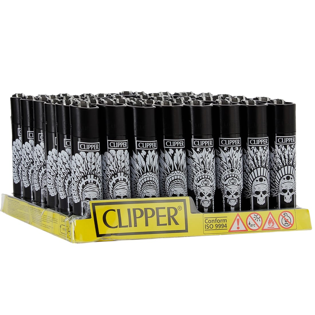 Photo de Briquet Clipper Indian Skull x 48
