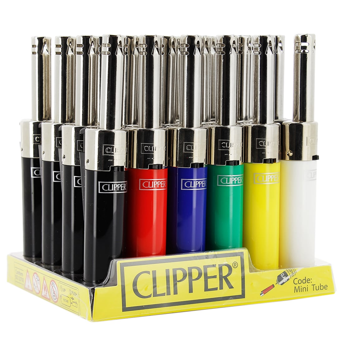 Photo de Briquet Clipper Mini Tube Couleurs x 24