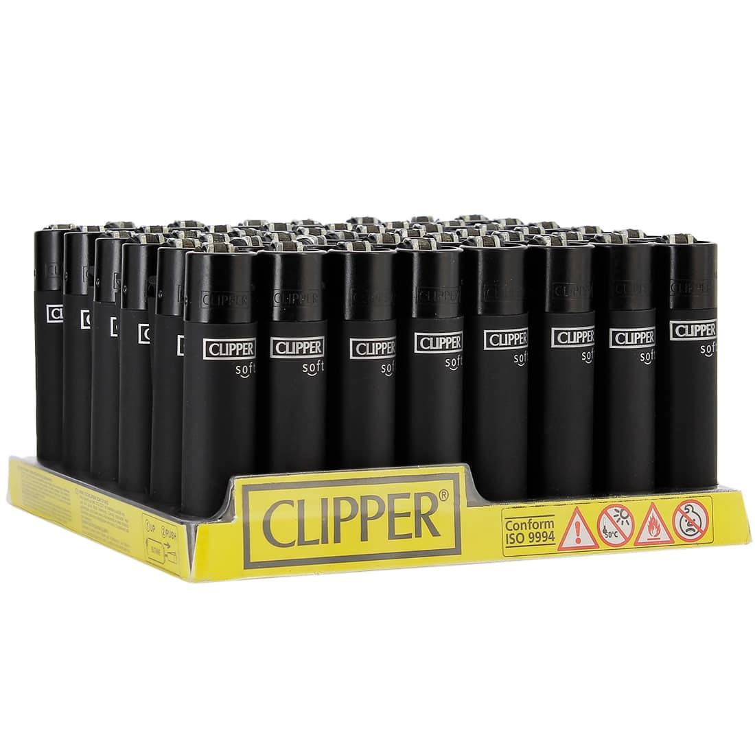 Photo de Briquet Clipper Soft Touch Noir x 48