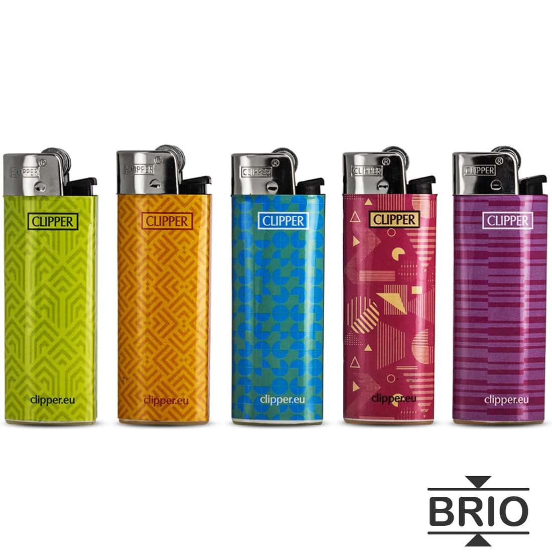 Photo de Briquet Clipper Brio Micro Pattern x 5