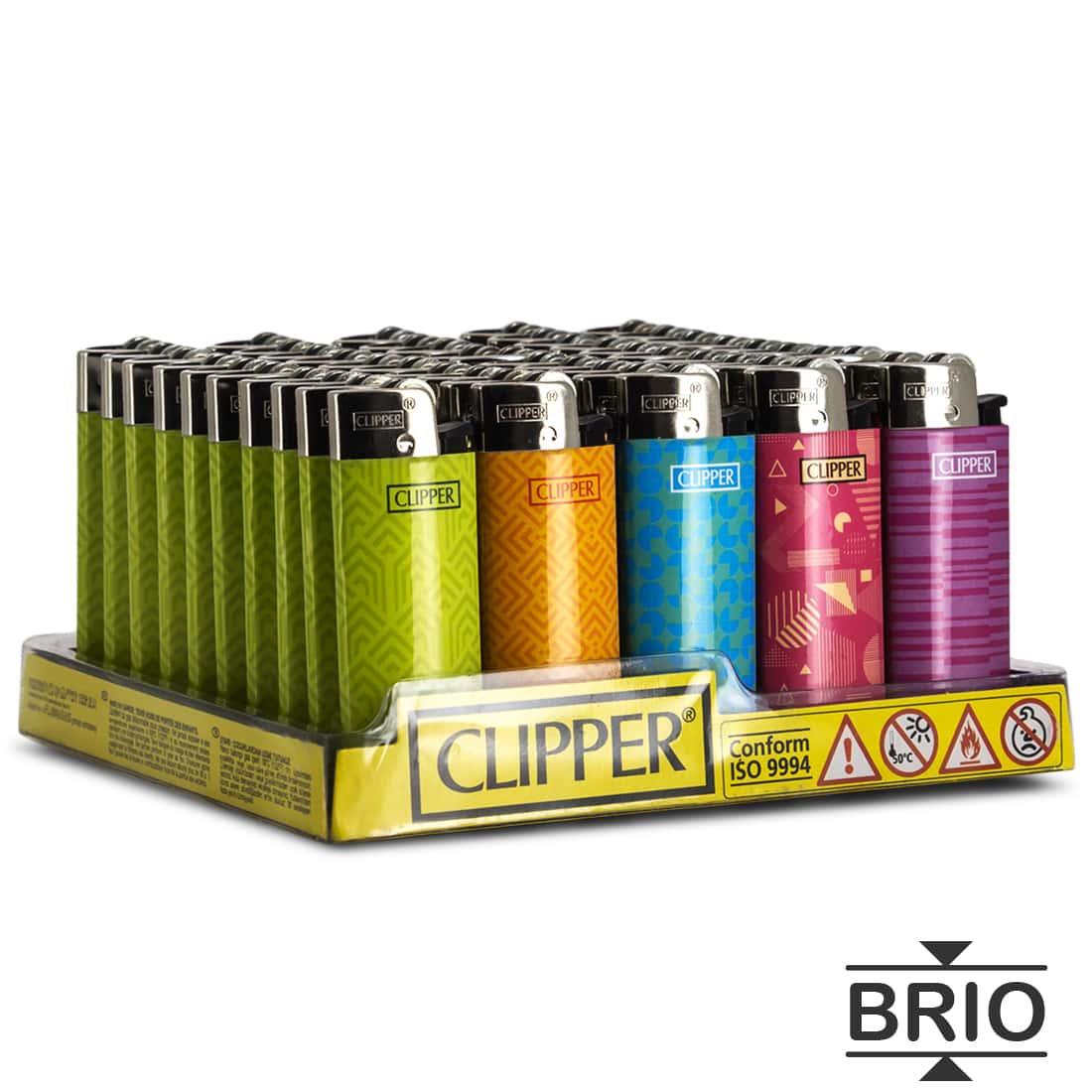 Photo de Briquet Clipper Brio Micro Pattern x 50