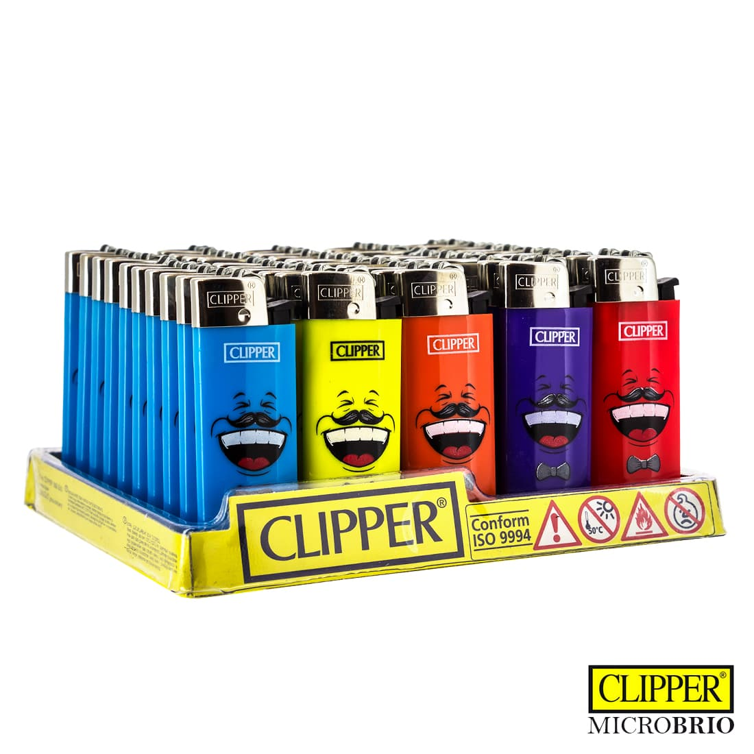 Photo de Briquet Clipper Brio Micro Émoticônes x 50
