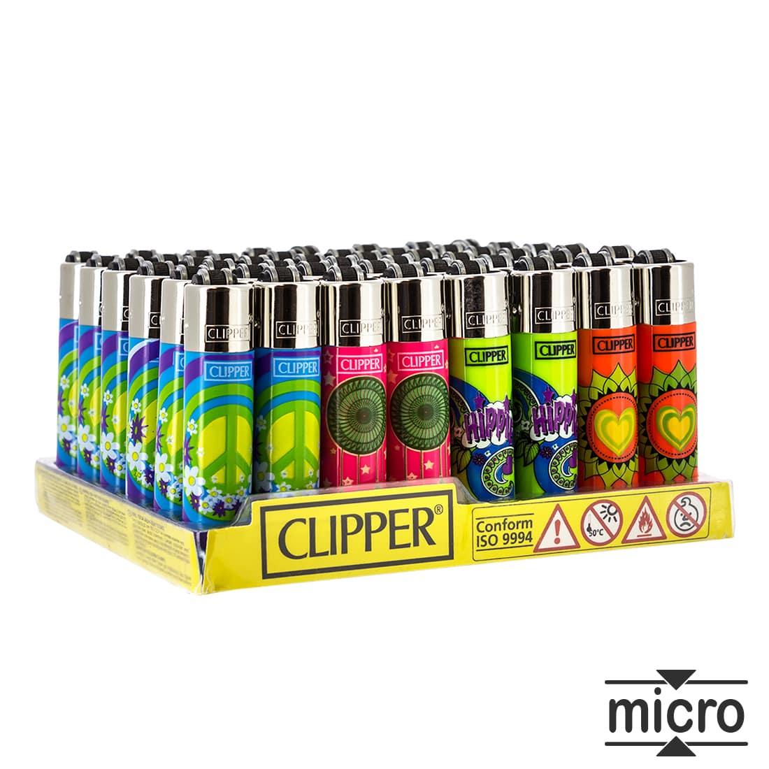 Photo de Briquet Clipper Micro Hippie Style x 48