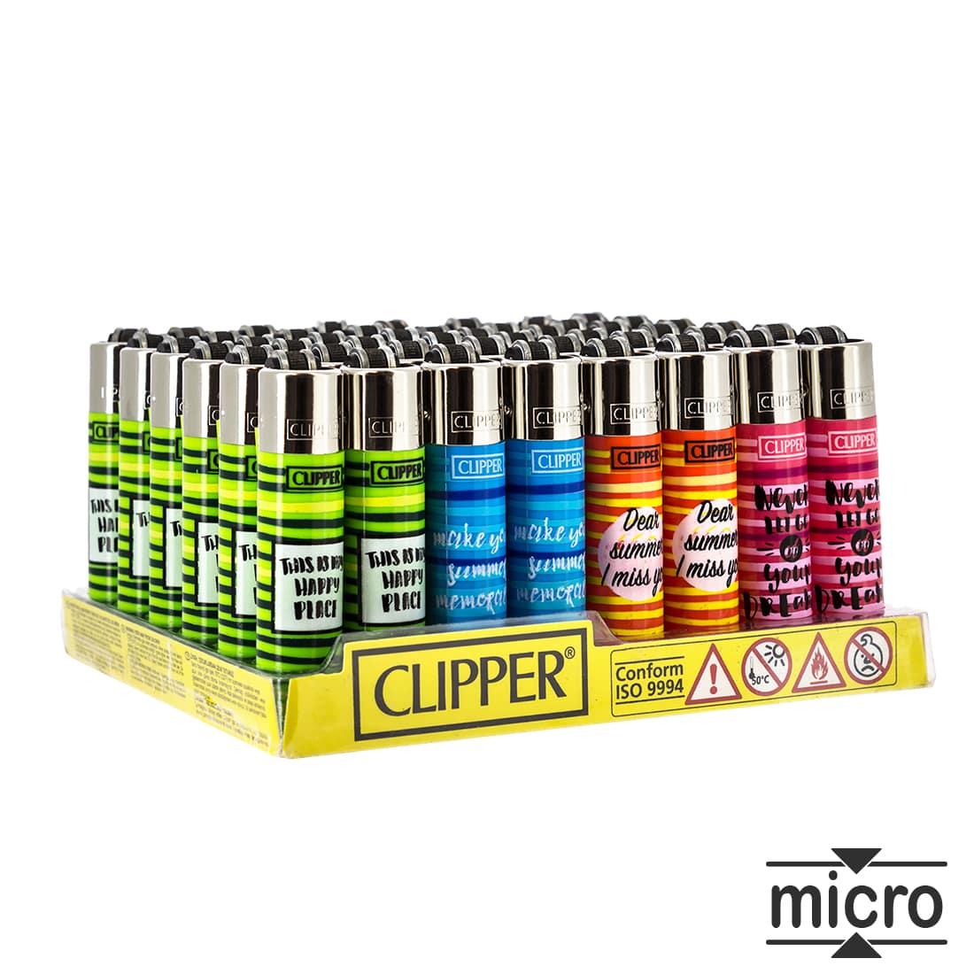 Photo de Briquet Clipper Micro Summer Print x 48