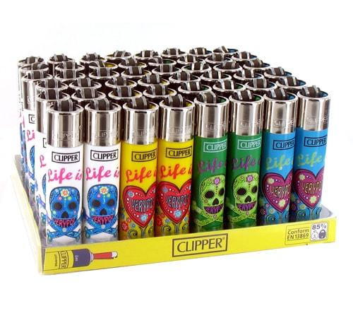 48 briquets à pierre Clipper Life is Very Pop