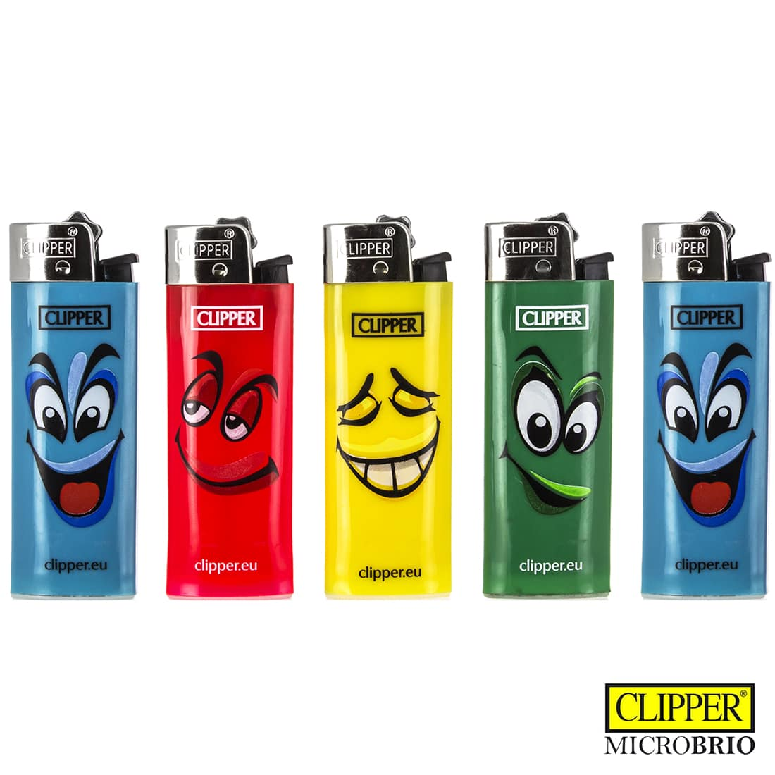 Photo de Briquet Clipper Brio Micro Décor Face x 5