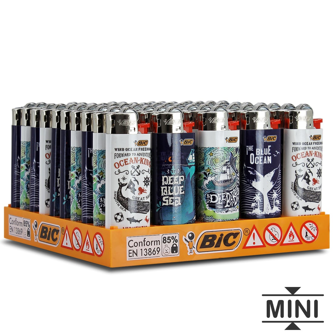 Photo de 50 briquets Bic mini à pierre Mobybic