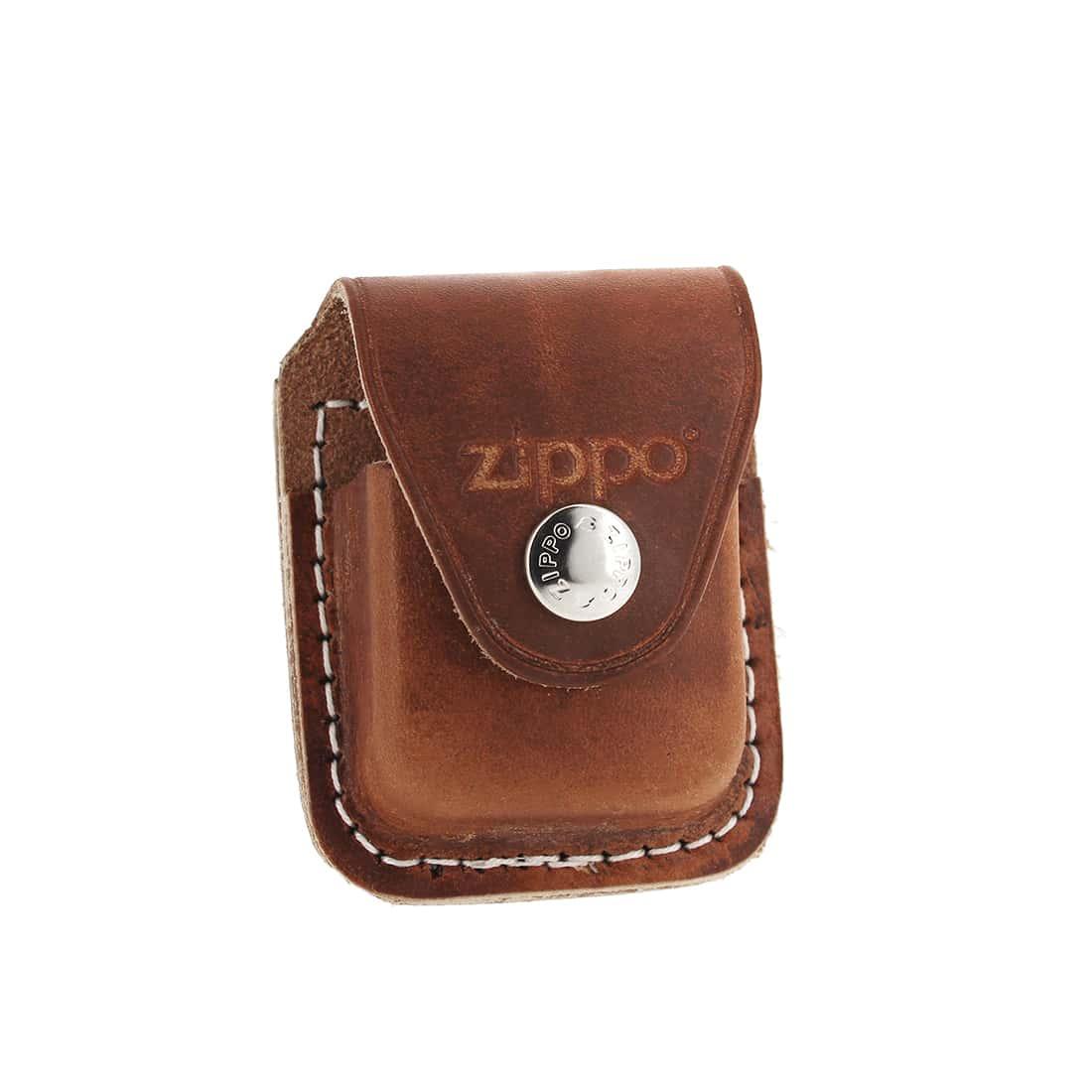 Photo de Zippo etui briquet cuir marron à clip 859008