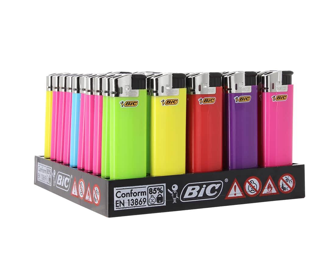 Photo de 50 briquets Bic Maxi electronic couleur
