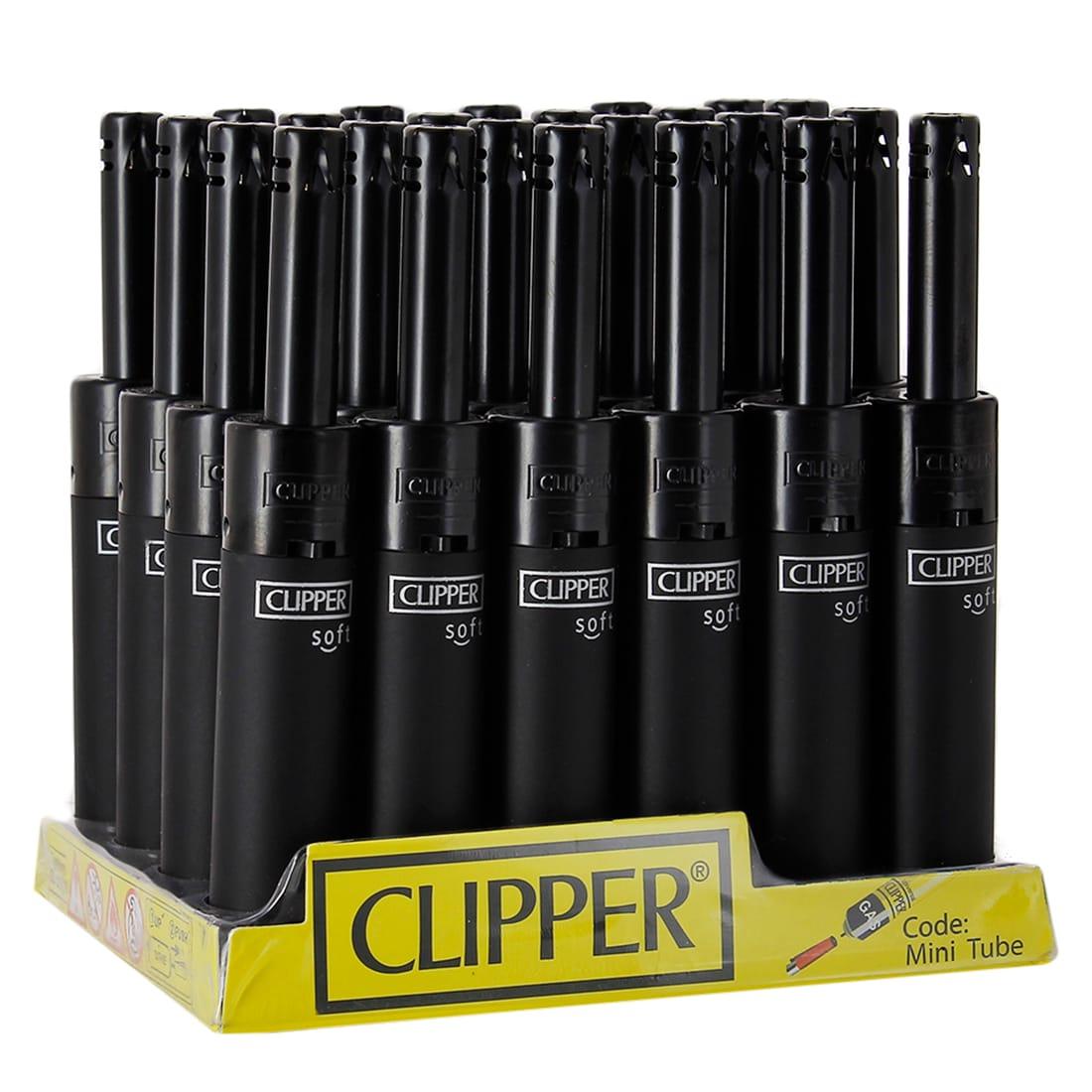 Photo de Briquet Clipper Mini Tube Soft Touch Noir x 24