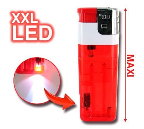 Briquet Electronique XXL à LED Rouge