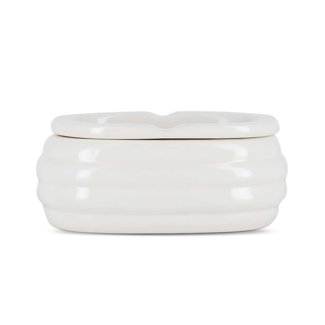 Photo de Cendrier Céramique Ovale Blanc